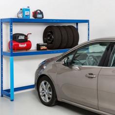 Стелаж за гараж - 50x240x180 см, 2 рафта