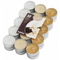 Комплект ароматни чаени свещи - 30 броя, ванилия
