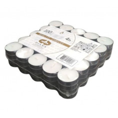 Чаени свещи - 100 броя, бели