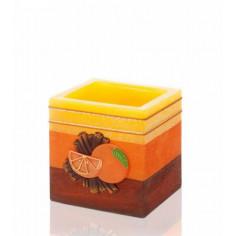 Ароматна свещ лампа - 11х10,5 см, канела с портокал