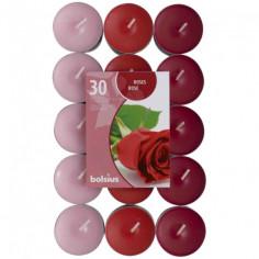 Комплект ароматни чаени свещи - 30 броя, роза