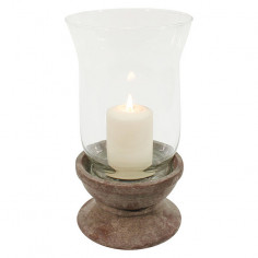 Свещник - ØxВ 12x21 см, стъкло