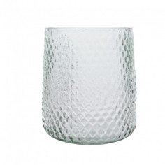 Свещник - 19х19 см, стъклен