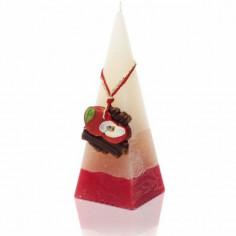 Ароматна свещ пирамида - 5х15 см, канела с ябълка