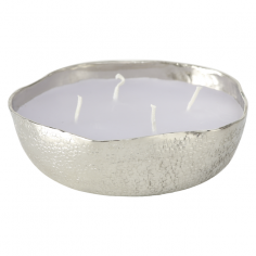 Декоративна свещ Justine - 13 см, сребриста