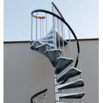 Външна вита стълба CIVIK ZINK, метална