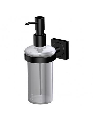 Дозатор за течен сапун Cannes Black Edition - С поставка за стенен монтаж, черен мат
