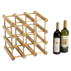 Стелаж за вино - 28х34х34 см, дървен