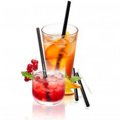 Комплект от 4 броя черни стъклени сламки + четка FUTURE, 18 cm - gefu - germany