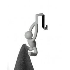 """Комплект от 2 бр  единични закачалки за врата """"BUDDY"""" - цвят сив - umbra hk limited"""