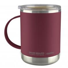 "Термо чаша с керамично покритие ""ULTIMATE"" - 360 мл - цвят бургунди - asobu"