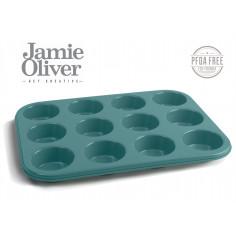 Форма за 12 бр. мъфини - 35 х 27см - цвят атлантическо зелено - jamie oliver