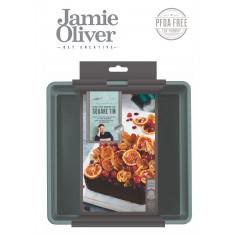 Квадратна форма за печене с падащо дъно - 20х20см - цвят атлантическо зелено - jamie oliver