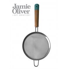 Сито - Ø14см , неръждаема стомана/ дърво, атлантическо зелено - jamie oliver