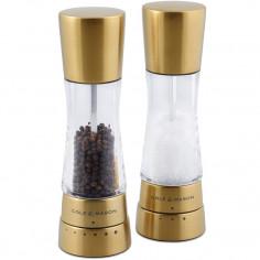 """Комплект мелнички за сол и пипер """"DERWENT MAT GOLD"""" - 19 см. - с механизъм за прецизност - cole & mason"""