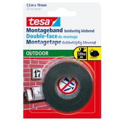 Монтажна лента Tesa - 1,5 м, 19 мм, черна