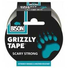 Лепяща лента Grizzly Bison - 1000х5 см, сива
