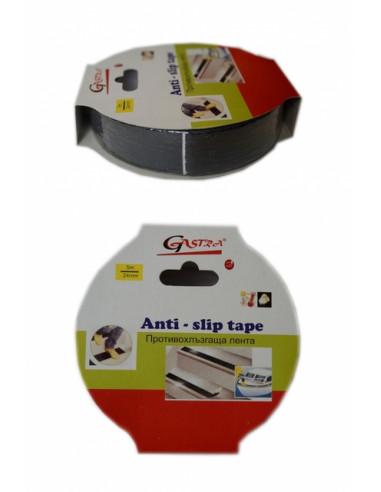 Противоплъзгаща самозалепваща лента Gastra - 5 м, 25 мм, черна