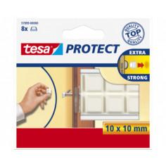 Буфер за врати Tesa, бял, 10x10 мм, 8 броя