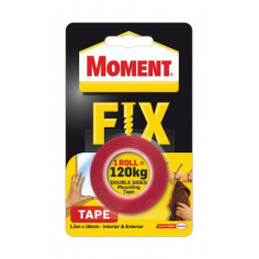 Двойнолепяща монтажна лента/ тиксо Moment Fix, 120 кг, 19 мм, 1,5 м