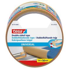 Двойнолепяща лента Tesa Universal - 5 м, 50 мм, бяла