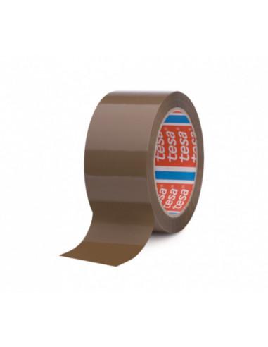 Пакетираща лента / тиксо Tesa, кафява, 66 м