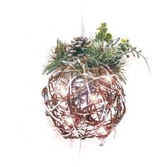 Коледна топка с декорация -...