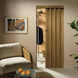 Imagén: Сгъваема врата тип хармоника 88 x 205 см, дървесен декор елша