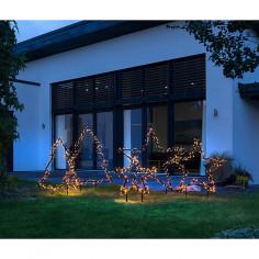 Коледна LED звезда - 102 см, 225 светодиодa
