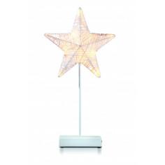 Коледна LED звезда - 10 светодиода, 43 см