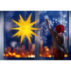 Коледна LED звезда - Ø50 см, жълта