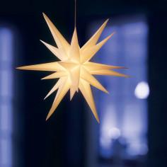 Коледна LED звезда - Ø100 см, бяла