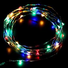 Коледна светлинна верига LED - 100 светодиода, 10 м, RGB