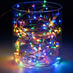 Коледна светлинна верига LED - 30 м, IP65, RGB