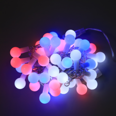 Коледна LED светлинна верига топки - 50 светодиода, 5 м, 14 W