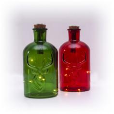 Коледни лампички LED лампички - 5 светодиода, топло-бяла светлина, червена или зелена