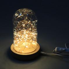 Стъклен буркан с LED стринг - 100 светодиода, 10 м стринг
