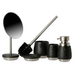 Imagén: Комплект четка за тоалетна Bosse - Стъкло и неръждаема стомана, бял и инокс