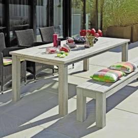 Градинска маса, сива - 200 x 100 см