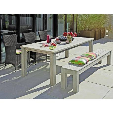 Градинска маса, сива - 220 x 100 см