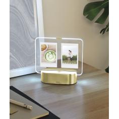 "Рамка за 2 снимки 6х8 см с LED светлина ""GLO  INSTANT"" -  цвят месинг - UMBRA"