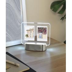 """Рамка за 2 снимки 6х8 см с LED светлина """"GLO  INSTANT"""" -  цвят никел - UMBRA"""