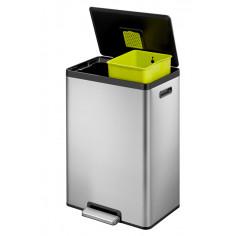 """Кош за разделно събиране на отпадъци с педал """"ECOCASA II"""" - 2 х 20 литра - мат - EKO"""