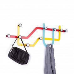 """Закачалка за стена """"SUBWAY"""" в 3 цвята - жълто, синьо и червено - UMBRA"""