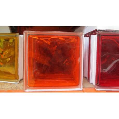 Стъклени блокчета - оранж 19x19x8 см