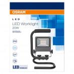 Мобилен LED прожектор Floodlight - 20 W, 4000 K, IP65, черен