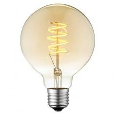 LED крушка - 4 W, Е27 G95, 2200 К, 140 lm, Ø9,5 см, кехлибар