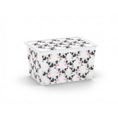 Пластмасова кутия за съхранение XL Cute Animals - 55х39х31 см, 50 л, с капак