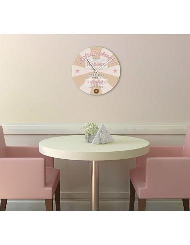 Стенен часовник Time-Art - Ø40 см, стъклен
