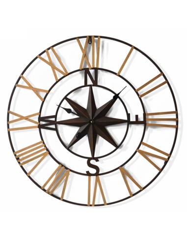 Стенен часовник - Ø50 см, MDF, черен